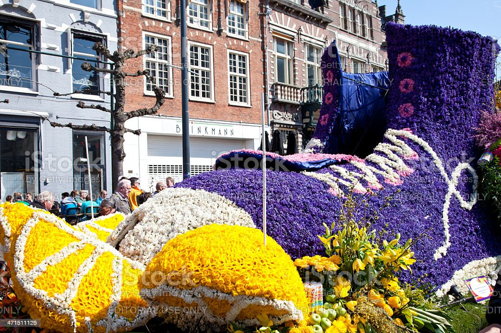 Shoe with flowers at flower parade royalty-free stock photo