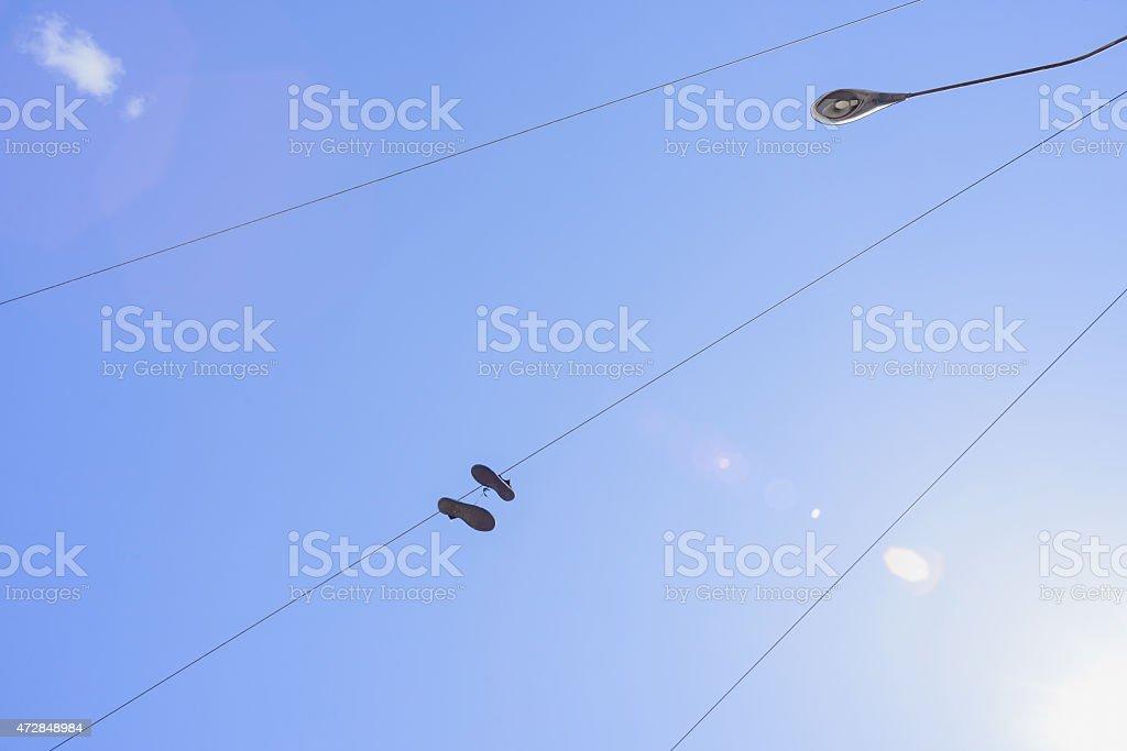 Shoefiti stock photo