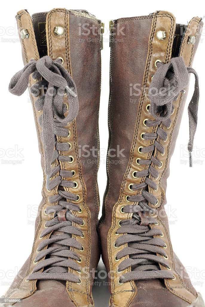 shoelace stock photo