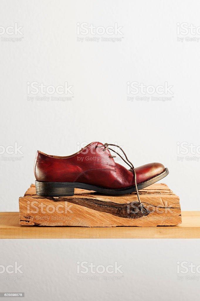 shoe,Leather stock photo