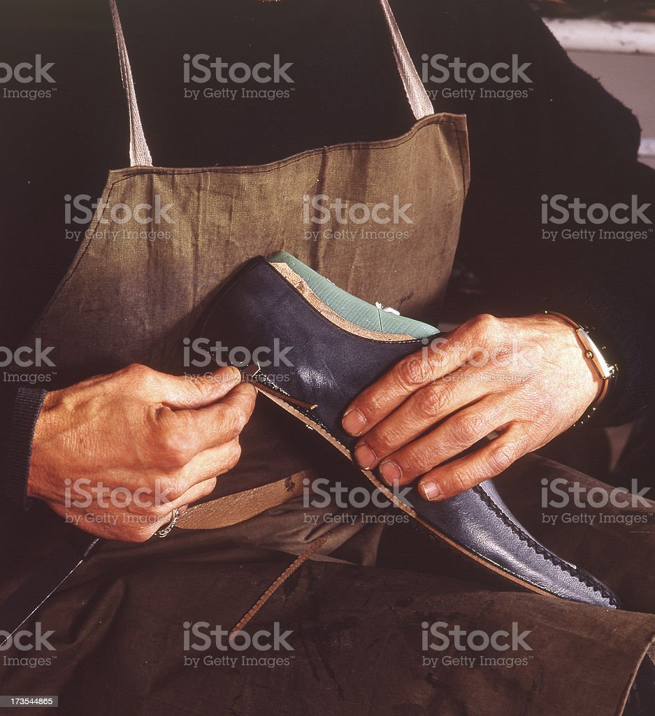 shoemaker (scanned slide) royalty-free stock photo