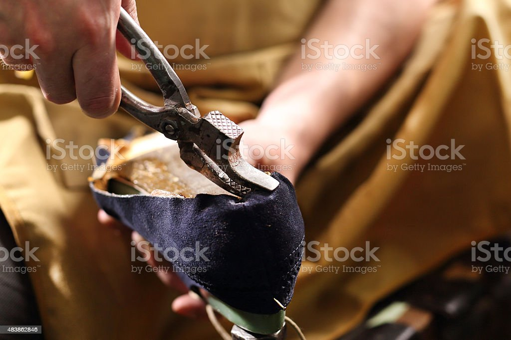 Shoemaker pincers stock photo