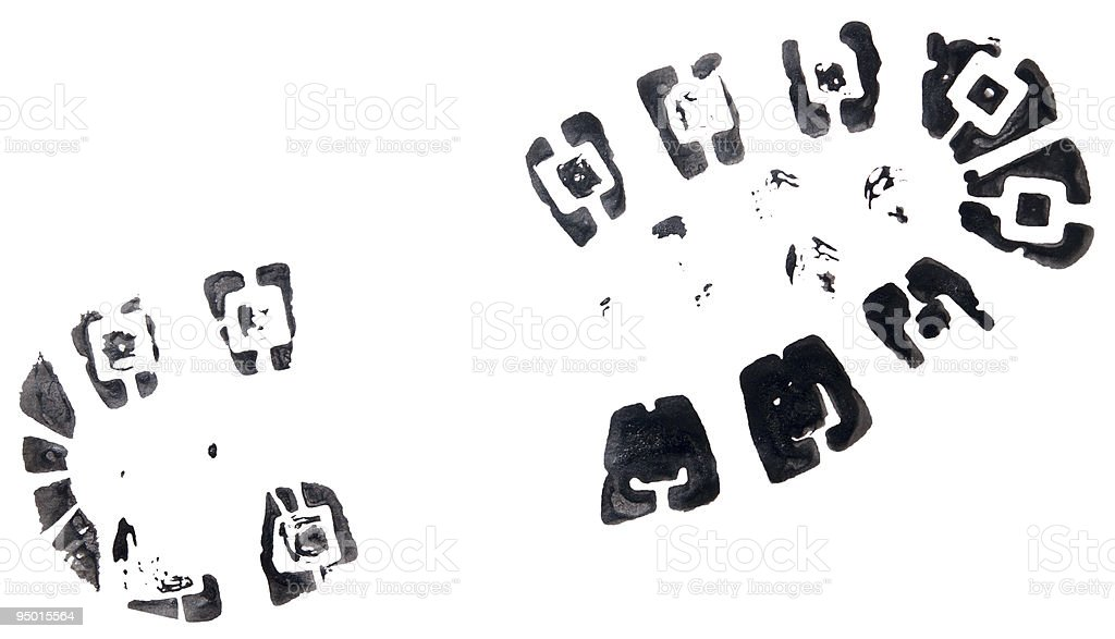 shoeprint stock photo