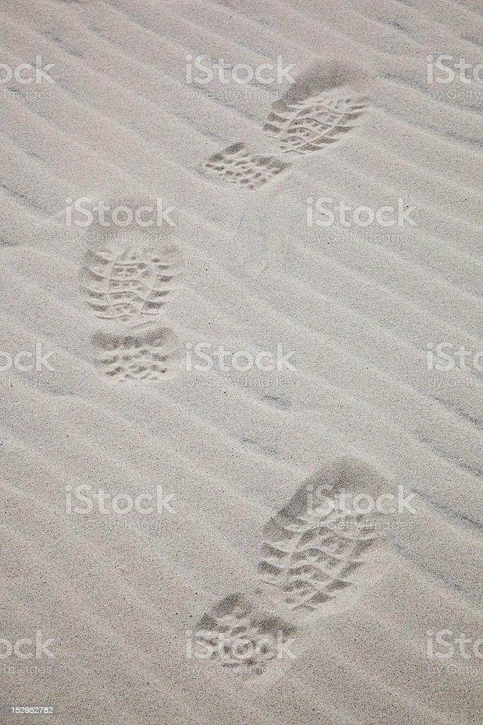 Shoeprints royalty-free stock photo