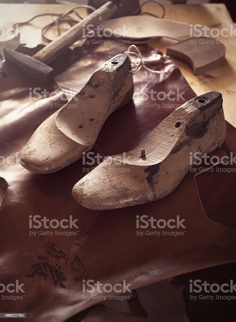 shoes and handicrafts stock photo