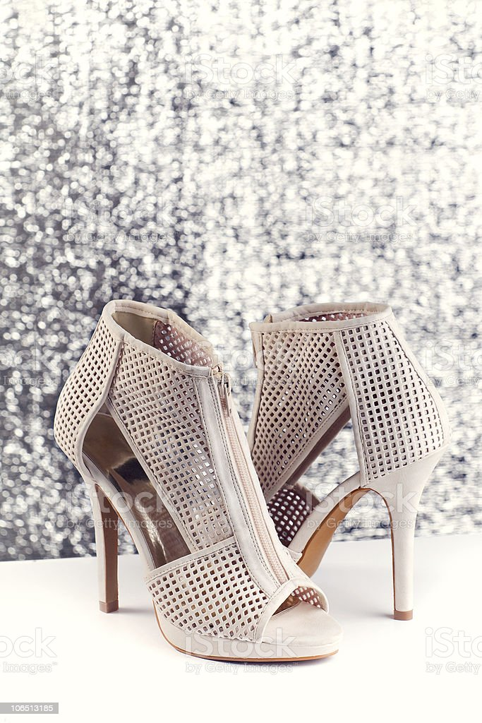 Shoes for Christmas night royalty-free stock photo