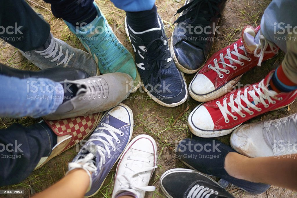Shoes for every mood stock photo