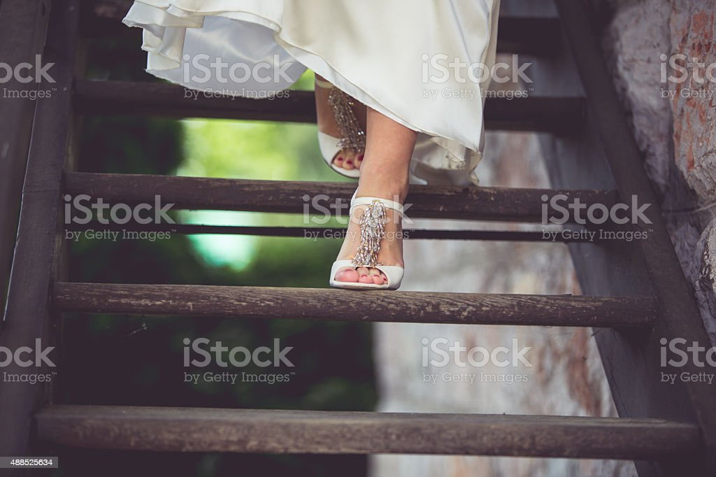 Shoes for wedding stock photo