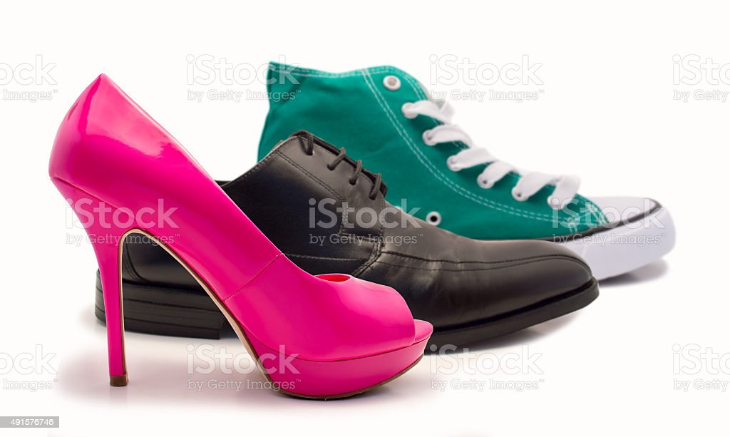shoes group stock photo