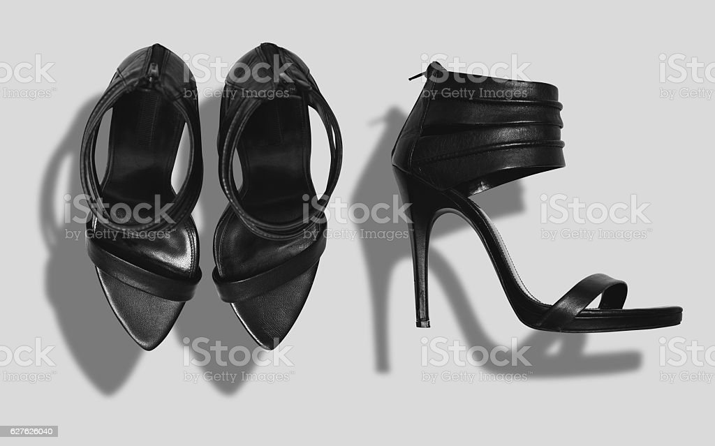 Shoes mockup set stock photo