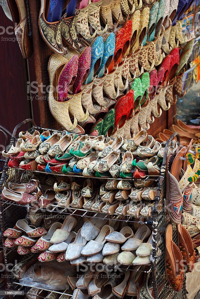 Shoes on a market royalty-free stock photo