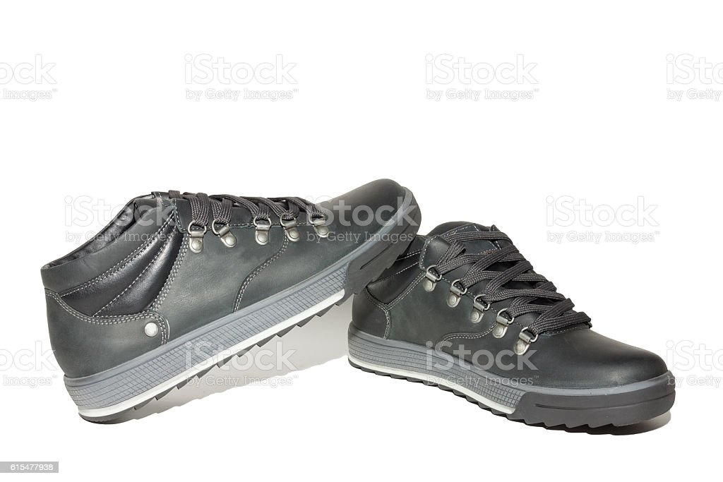 shoes on a white background stock photo