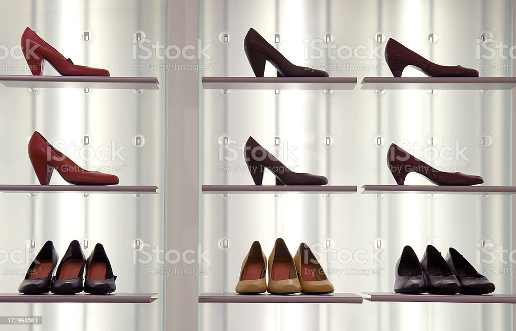 Shoes on display stock photo