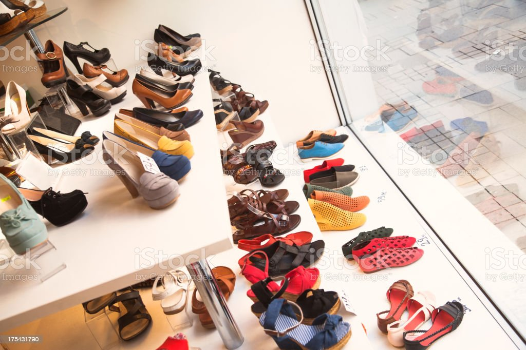 Shoes on display royalty-free stock photo