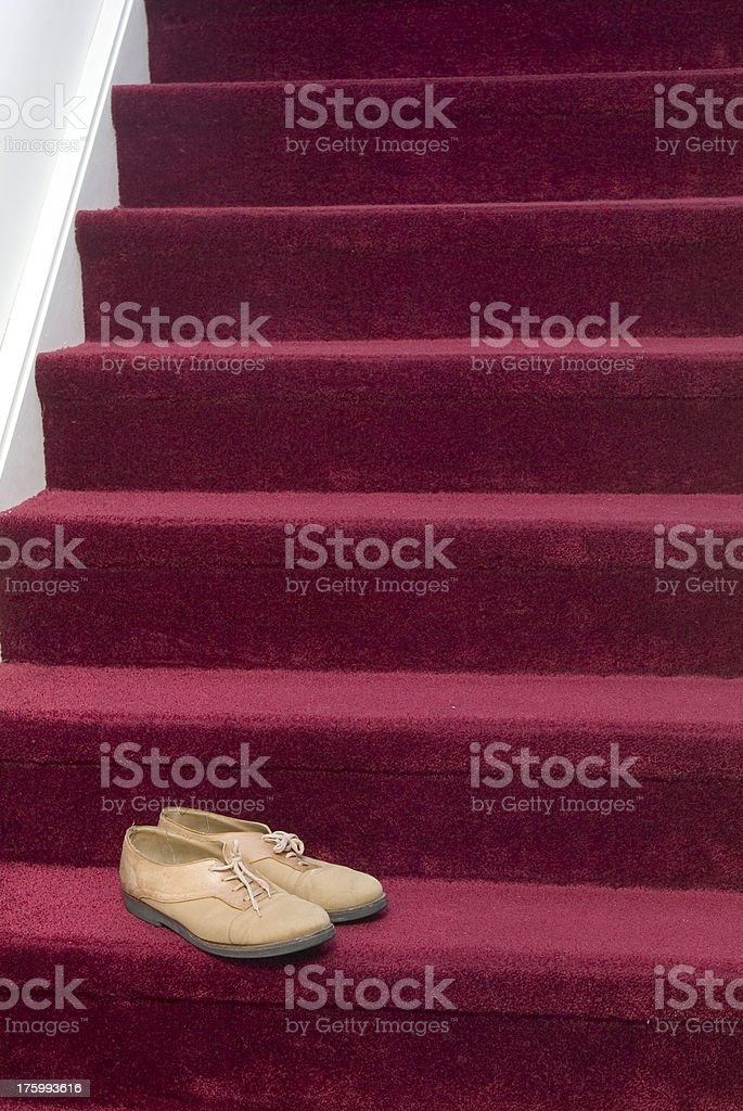 Shoes on red royalty-free stock photo