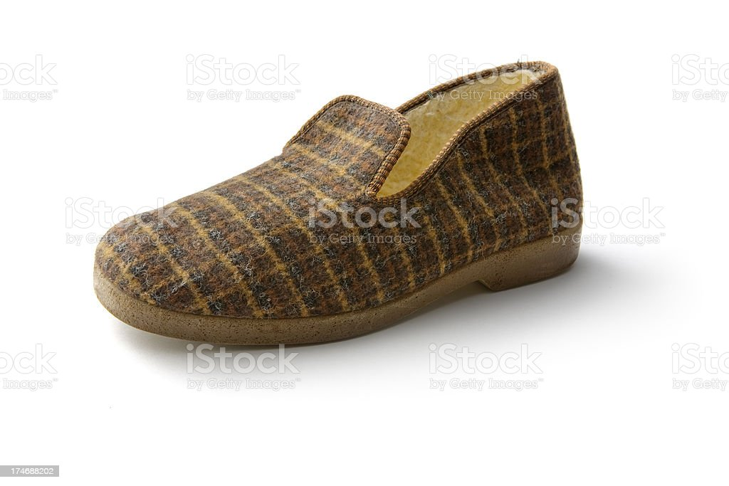 Shoes: Slipper royalty-free stock photo