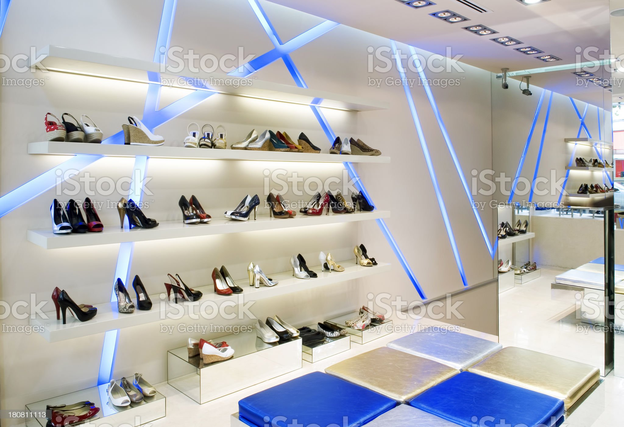shoes store royalty-free stock photo