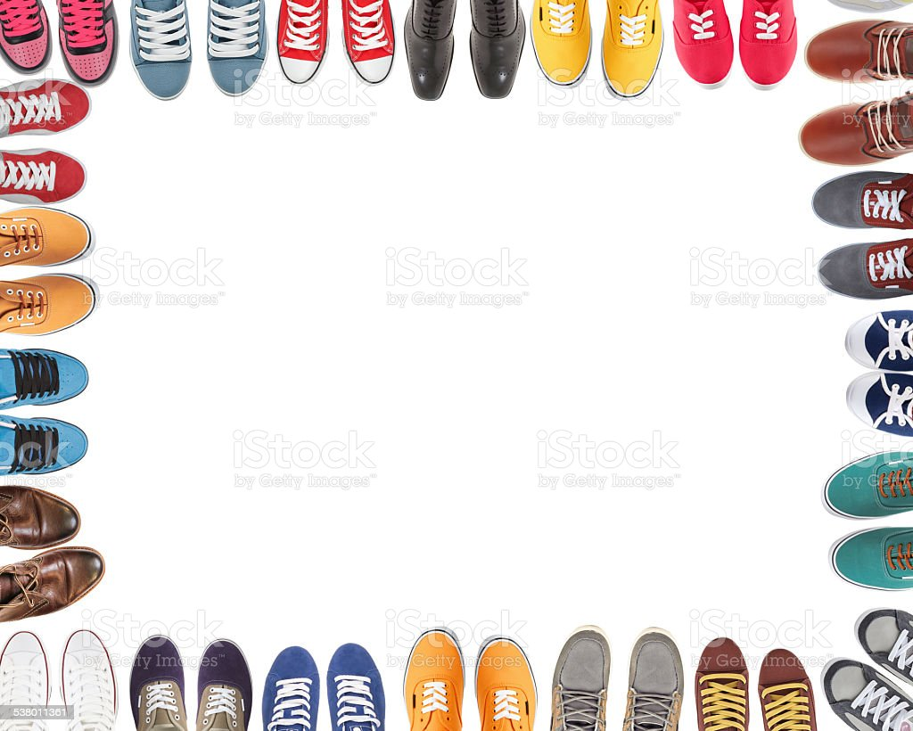 Shoes team stock photo