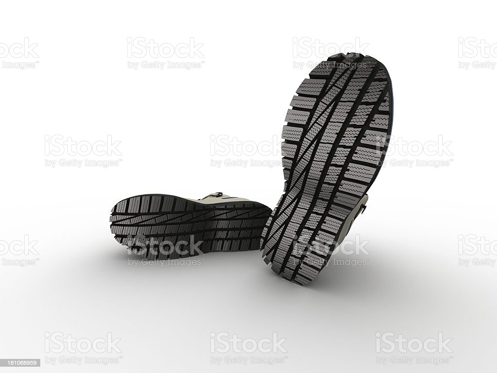 shoes with outrider sole royalty-free stock photo