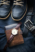 shoes,watch,wallet and jeans