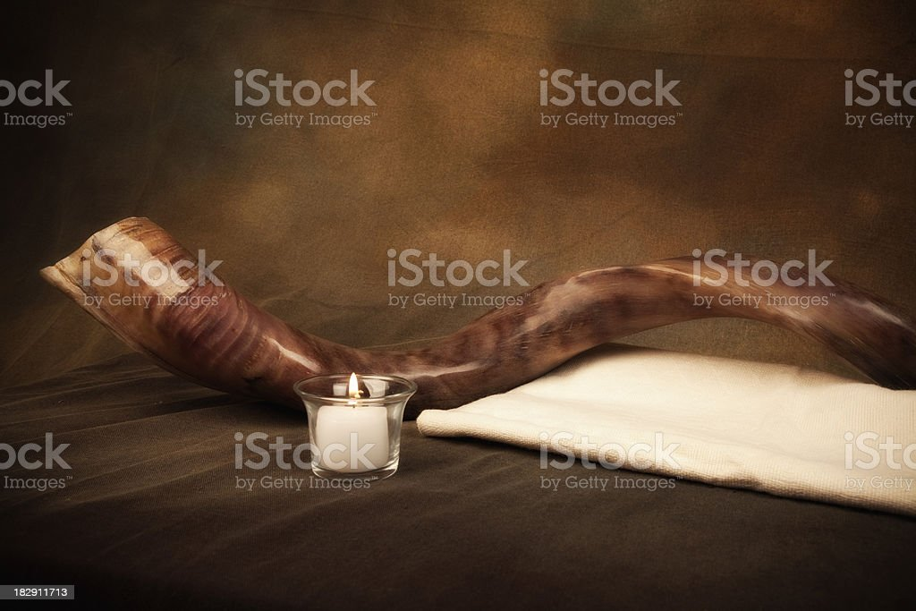 Shofar and Sackclothe royalty-free stock photo