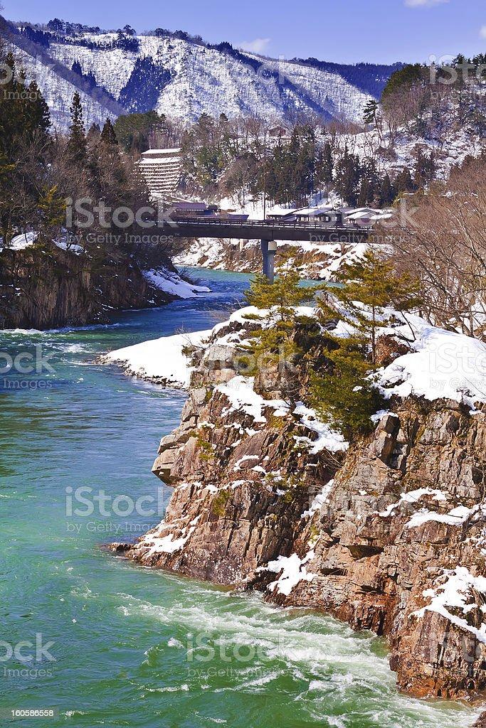 Shogawa River at Shirakawago royalty-free stock photo
