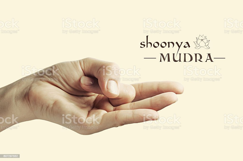 Shoonya mudra color stock photo