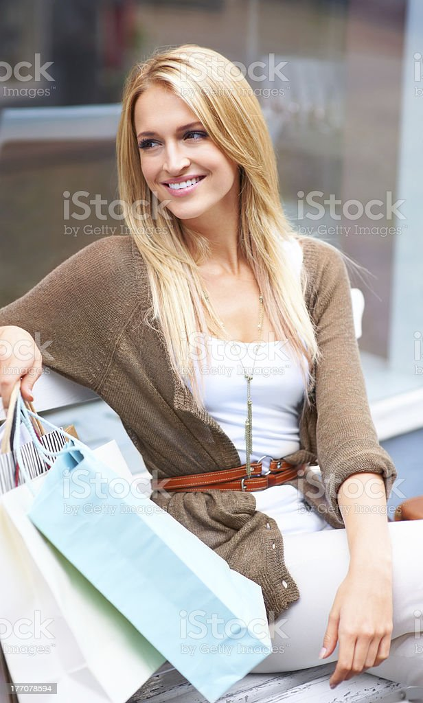 Shooo! What a great shopping day royalty-free stock photo