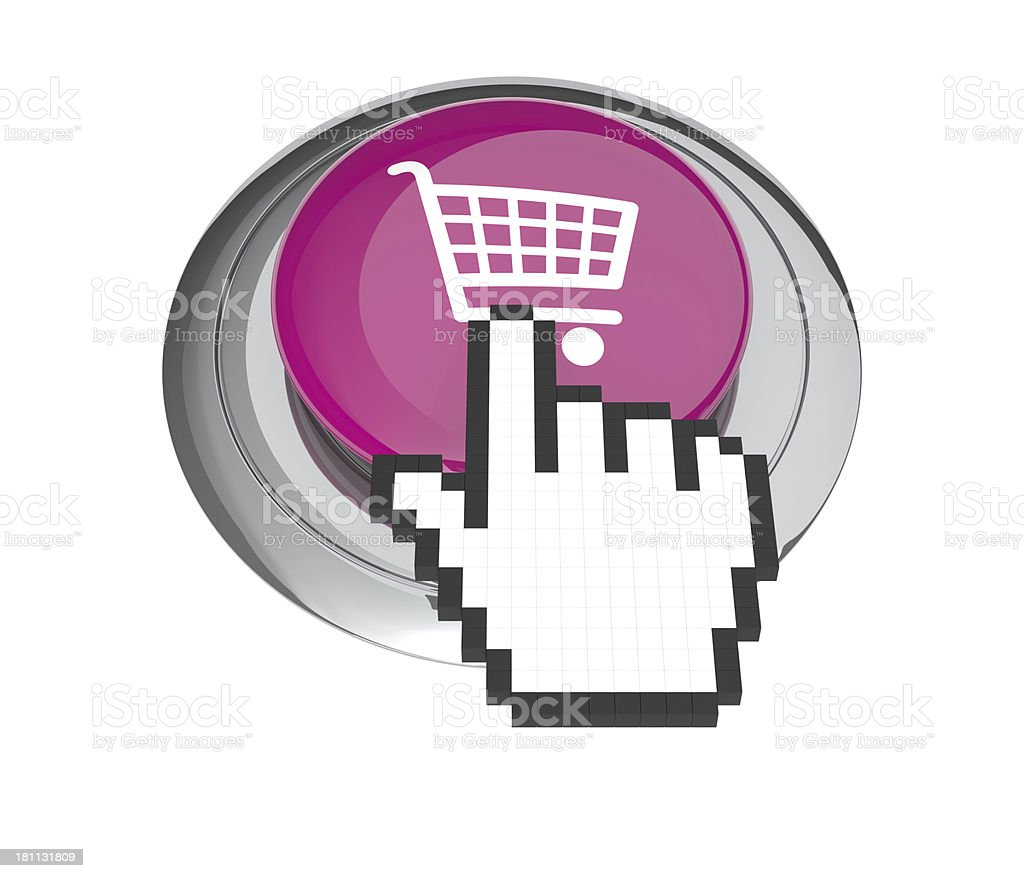 Shooping Button royalty-free stock photo