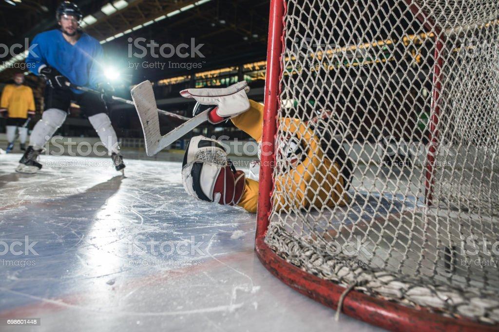 Shoot and score! stock photo