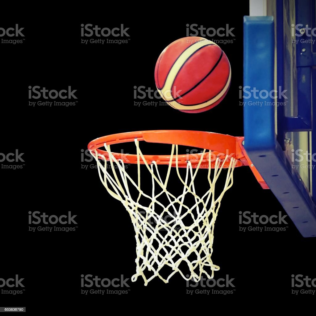 shoot hoops after the shooting magic stock photo