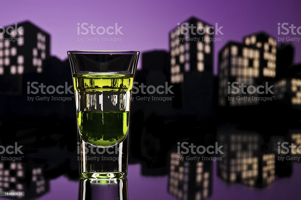 ABC shoot in cityscape setting stock photo