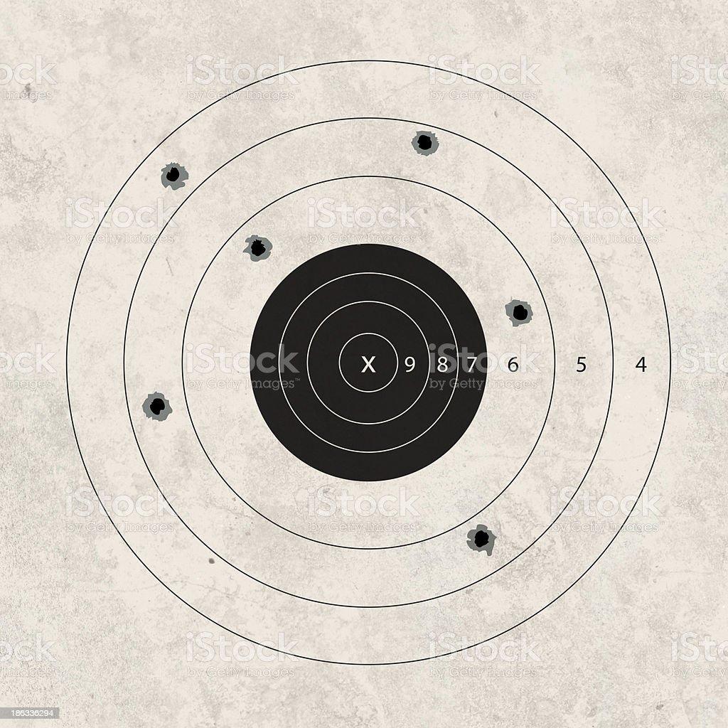 shoot target missing stock photo