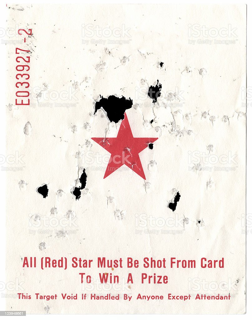 Shoot the Star Carnival Game - Target Shot With BBs royalty-free stock photo
