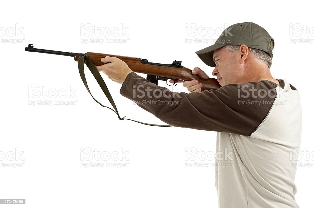 Shooting a Rifle royalty-free stock photo