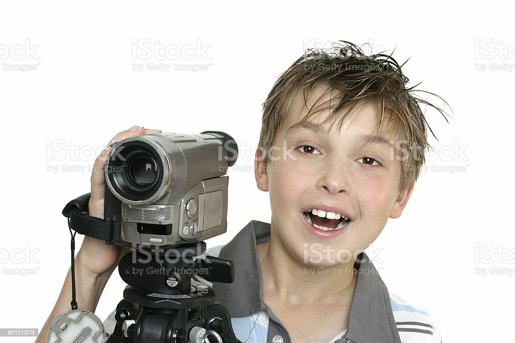Shooting a video royalty-free stock photo