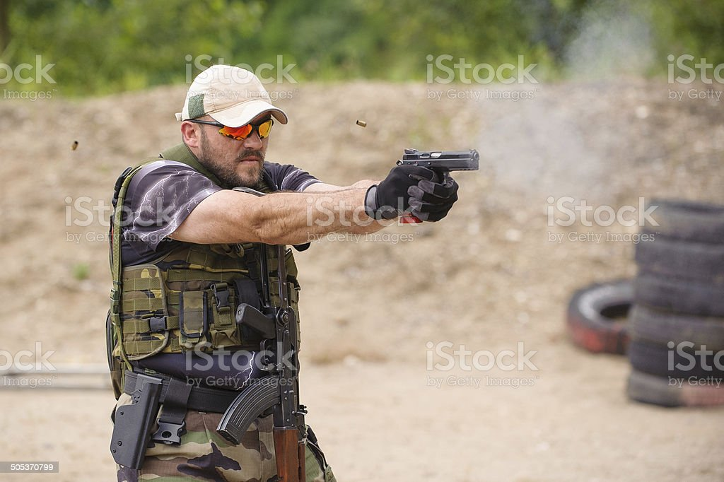 Shooting and Weapons Training stock photo