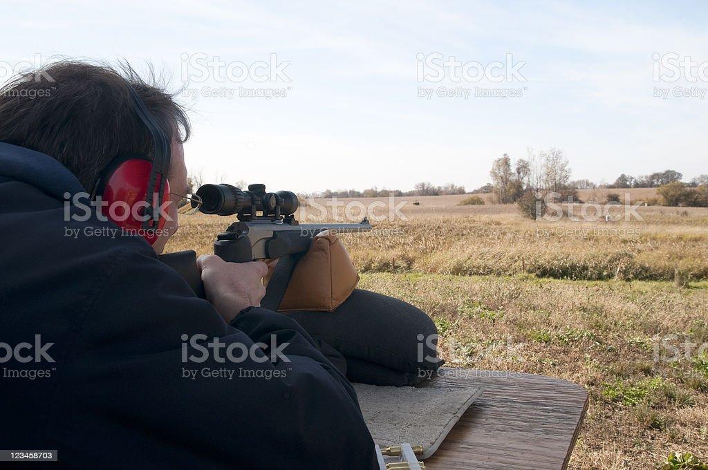 Shooting at a Target royalty-free stock photo