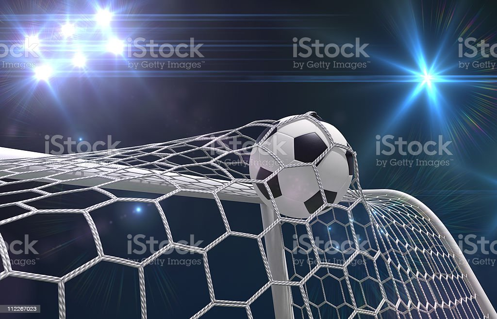 Shooting at goal royalty-free stock photo