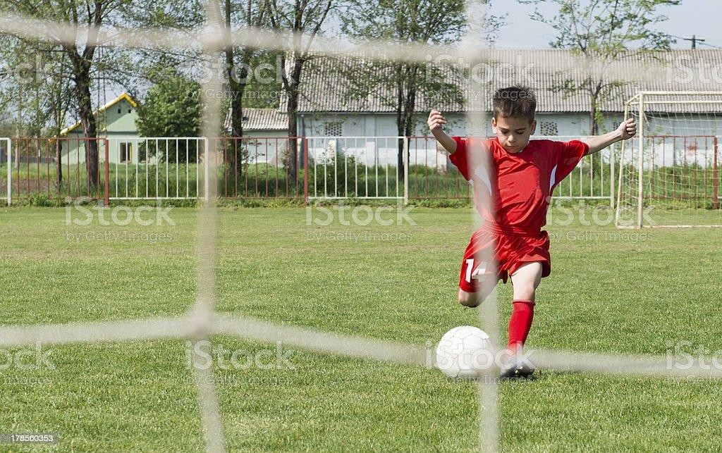 Shooting at Goal royalty-free stock photo