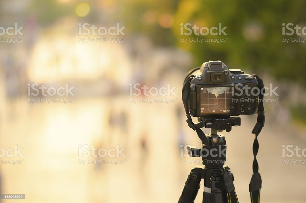 Shooting at the square stock photo