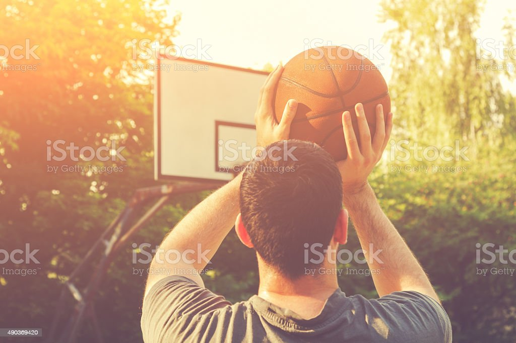 Shooting Ball stock photo