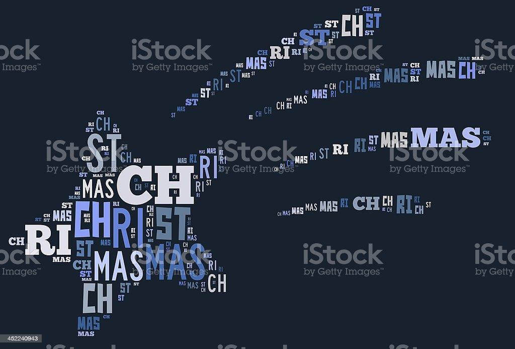 Shooting Weihnachten Sterne-word cloud Lizenzfreies stock-foto