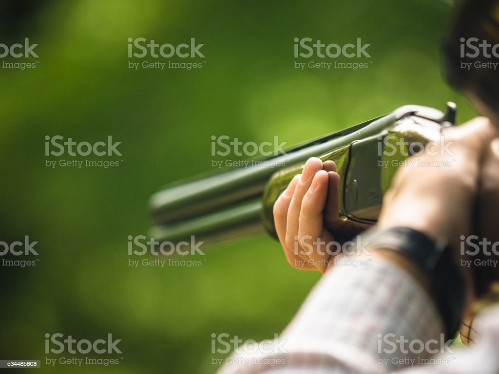 Shooting Clays stock photo