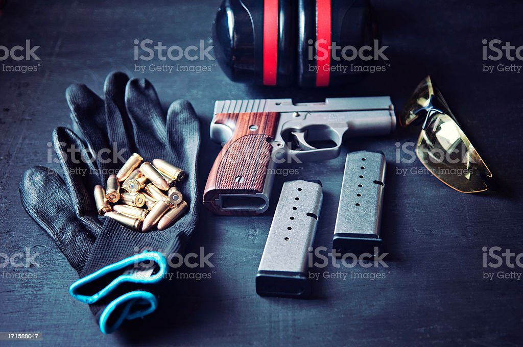 Shooting equipment royalty-free stock photo