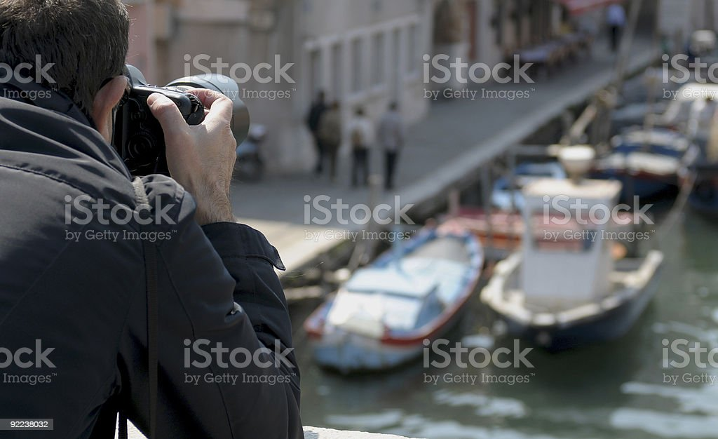 shooting in Chioggia royalty-free stock photo