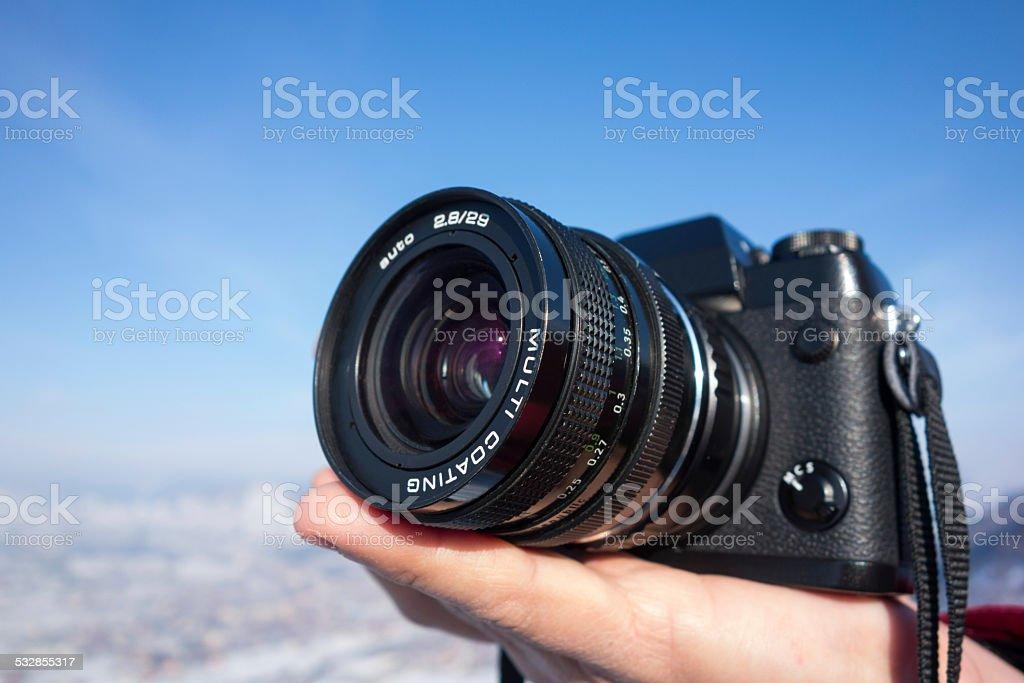Shooting Landscape stock photo