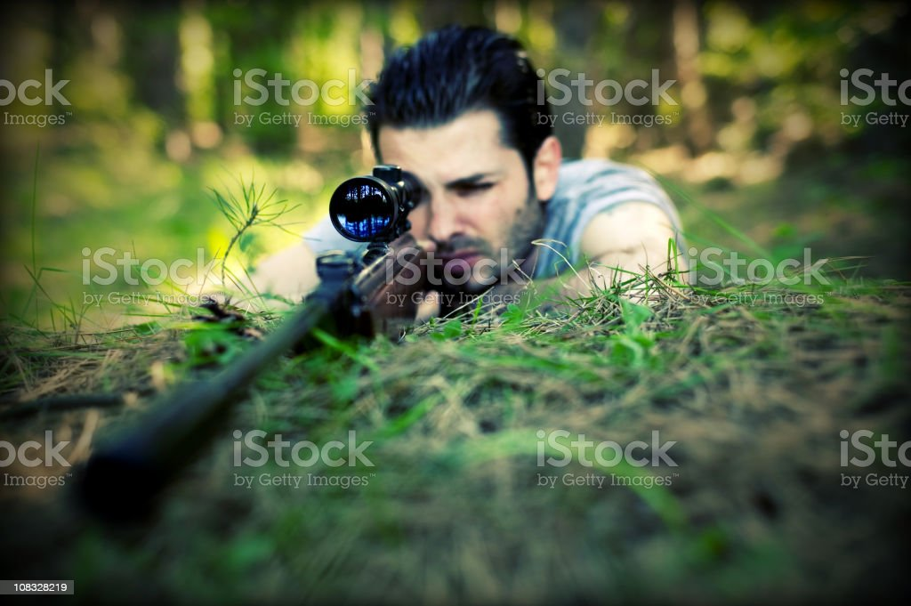 Shooting man royalty-free stock photo