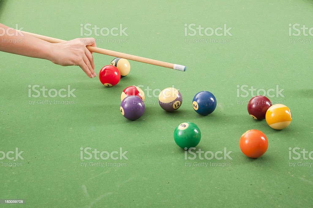 Shooting Pool royalty-free stock photo