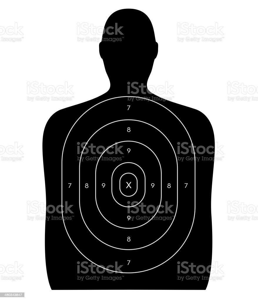 Shooting Range - Human Target stock photo